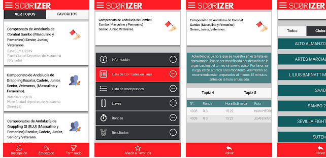 screen shot app scorizer